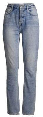 Current/Elliott The Stovepipe Destroyed Knee Jeans