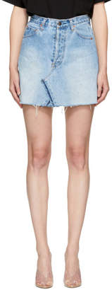 RE/DONE Blue Levis Edition Denim High-Rise Miniskirt