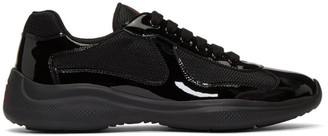 Prada Black Bike Sneakers