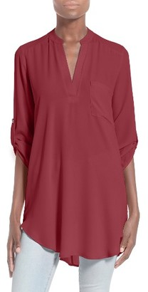 Women's Lush Perfect Roll Tab Sleeve Tunic $42 thestylecure.com