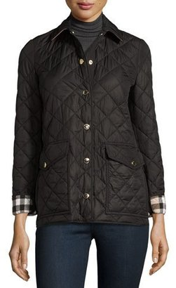 Burberry Westbridge Quilted Jacket, Black $695 thestylecure.com
