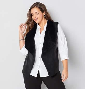 Avenue Faux Fur Open Vest