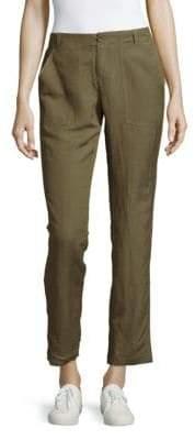 Leo & Sage Solid Straight-Leg Ankle Pants