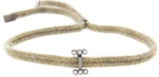Yannis Sergakis Adornments Cord Bracelet with Two Diamond Rows