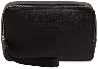 DSQUARED2 Embossed Leather Toiletry Bag