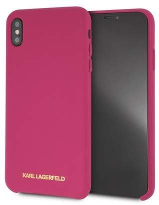 Karl Lagerfeld Fuchsia Silicone Soft Touch iPhone XS Max Case