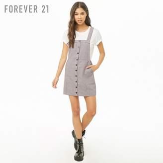 Forever 21 (フォーエバー 21) - Forever 21 ハウンドトゥースサロペットワンピース
