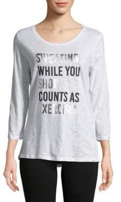 Sweating While You Shop Graphic Tee