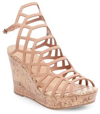 Mossimo Women's Brielle Caged Cork Wedge Gladiator Sandals - Mossimo Black $34.99 thestylecure.com