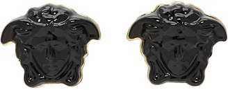 Versace Black Mini Medusa Earrings