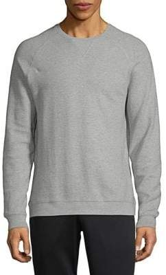 Black & Brown Black Brown Liquid Raglan-Sleeve Cotton Sweatshirt