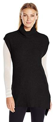 Lark & Ro Women's Soft Cowl-Neck Tunic with Side Slits