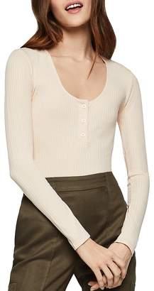 BCBGeneration Ribbed Knit Henley Bodysuit