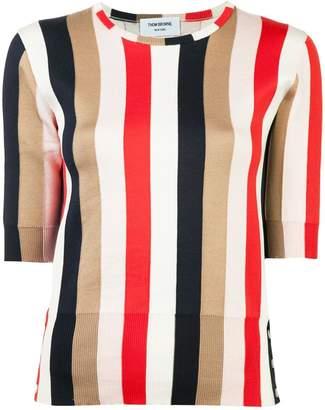 Thom Browne striped half sleeve top