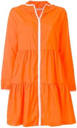 P.A.R.O.S.H. zipped hooded raincoat