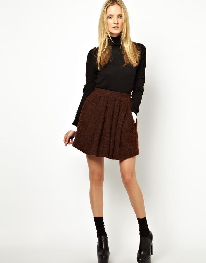 Wood Wood Vista Skirt in Fluffy Texture Wool