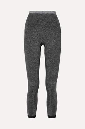 LNDR Tone Cropped Stretch-knit Leggings - Gray