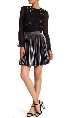 Ted Baker Velvet Pleated Skirt