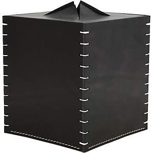 Arte & Cuoio Boutique Tissue Box - Black
