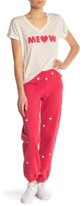 Wildfox Couture Heart Print Knit Sweatpants