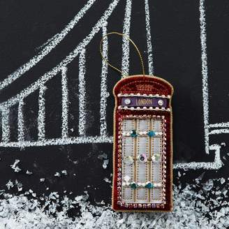 The Christmas Home Velvet Telephone Box Christmas Decoration
