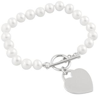 Splendid Pearls Plated 7-7.5Mm Freshwater Pearl Bracelet