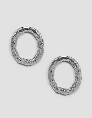 Asos Textured Open Shape Earrings