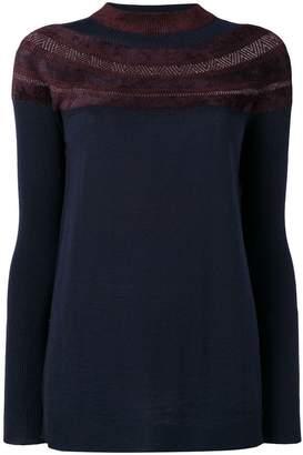 D-Exterior D.Exterior jacquard detail sweater