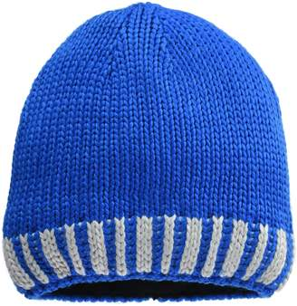 James & Nicholson Men's Winter Hat Beanie Multicolour Cobalt/Silver one Size