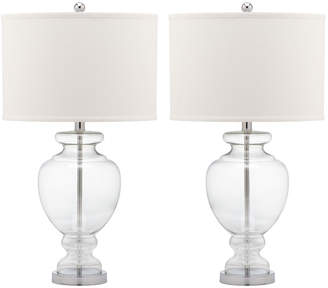 Safavieh Set Of 2 28In Clear Glass Table Lamps