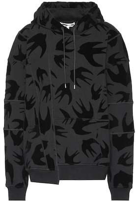 McQ Flocked velvet swallow hoodie
