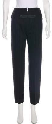 Donna Karan Wool Mid-Rise Pants