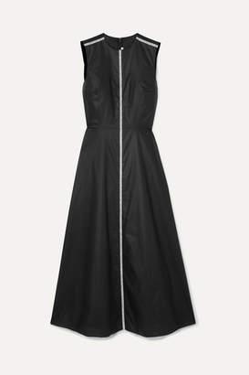 Christopher Kane Crystal-embellished Coated-cotton Midi Dress - Black