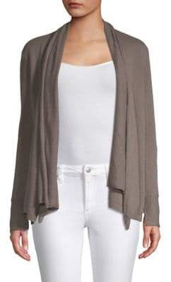 Inhabit Drape-Front Cashmere Cardigan