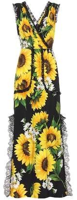 Dolce & Gabbana Sleeveless floral-printed dress