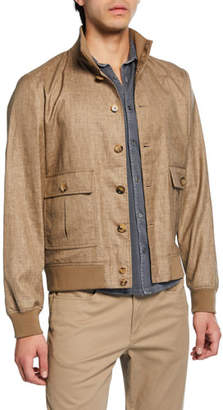 Valstar Men's Valstarino Button-Front Linen-Blend Jacket