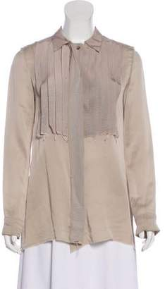 Lanvin Silk Button-Up Top