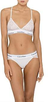 Calvin Klein Modern Cotton Lace Unlined Triangle Bra
