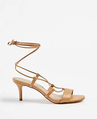 Ann Taylor Magdalena Wrap Heeled Sandals