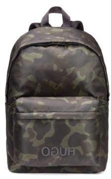 HUGO Boss Camouflage-print backpack in nylon gabardine One Size Patterned
