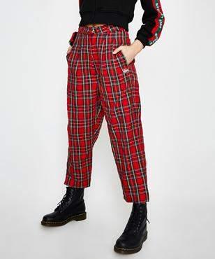 Stussy Tartan Pant Bright Red