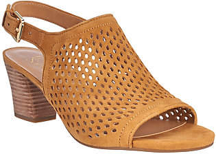 Franco Sarto Suede Perforated Sandals -Monaco 2