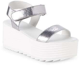 RENVY Women's Quinne Leather Platform Sandals