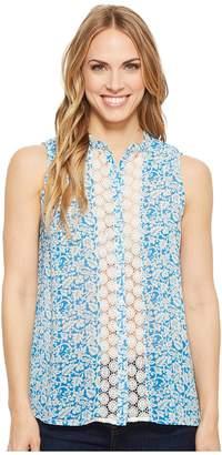 Roper 1559 Print Polyester Chiffon Button Blouse Women's Clothing