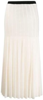 Jil Sander high waist pleated skirt