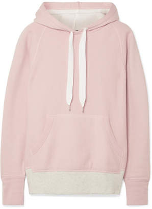Rag & Bone Color Blocked Cotton-terry Hooded Top - Pastel pink