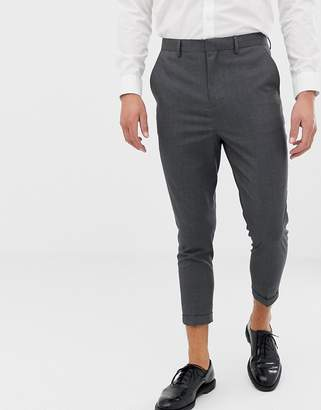 ONLY & SONS slim cropped suit pant