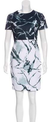 Carmen Marc Valvo Neoprene Digital Print Dress w/ Tags