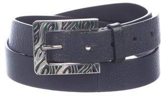Valentino Leather Buckle Belt