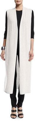 Eileen Fisher Drama Long Cashmere Vest